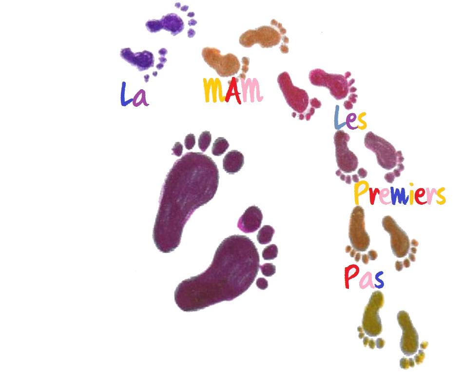 logo MAMles premiers pas blanc